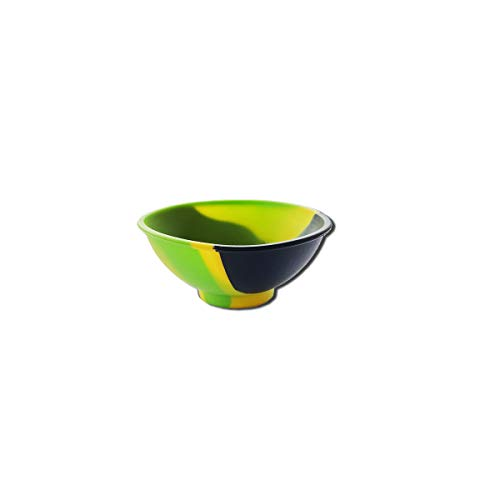 Cuenco de silicona Rolling Bowl para liar color rasta, accesorio ideal para fumadores