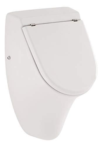 Calmwaters® - Tatihou - Urinal mit Zulauf von hinten im Komplettset mit Deckel und Befestigung in Weiß - 46CL5372