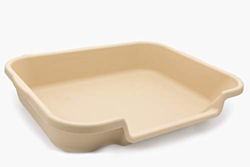 """PuppyGoHere Puppy Indoor Litter Box, Beach Sand Color: Size: 24"""" x 20"""" x 5"""". Opening is on 24"""" Side. See Size Diagram Prior to Ordering"""