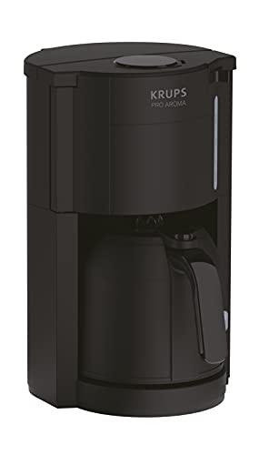 Krups Pro Aroma KM3038 | Filterkaffeemaschine 1 Liter | Fassungsvermögen mit Thermokanne | 800 Watt | für 10-15 Tassen Kaffee | schwarz