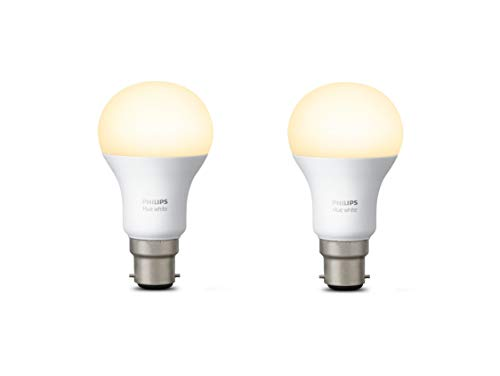 Philips Hue Personal Wireless Lighting LED Light Bulb, Synthetics, B22, 9.5 W, White