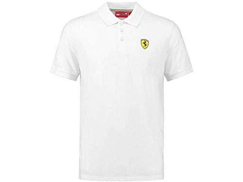FERRARI Scuderia F1 Classic Poloshirt weiß Formel 1 Fan Jersey Shirt Trikot, Größe:L