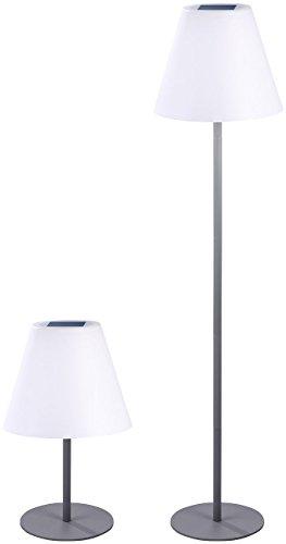 Lunartec Solar Stehlampe: Kabellose Solar-LED-Tisch- & Stehleuchte, 1,6 W, 50 lm, IP44 (Stehlampe ohne Kabel)