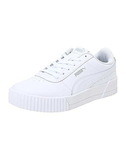 PUMA Carina L, Zapatillas Mujer, White-White-Silver, 39 EU