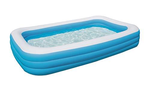 Bestway 54009 Piscinetta per bambini, rettangolare, 305x183x56 cm, Blu