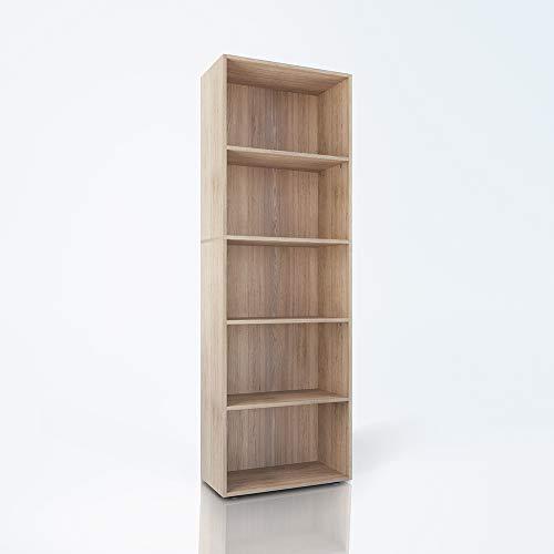 Vicco Bücherregal Easy XXL Standegal Wandregal Aktenregal Schrank Büro (Sonoma Eiche, XXL)