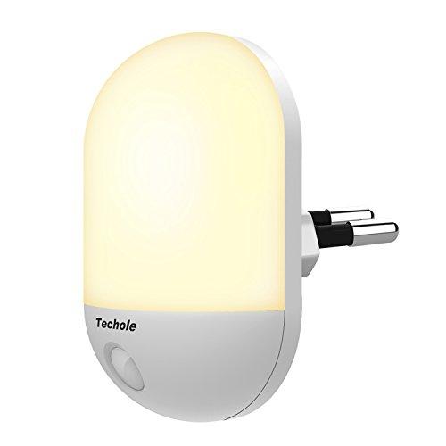 Luce Notturna LED, Techole Automatiche Luce Notturna Bambini con Sensore Crepuscolare,...