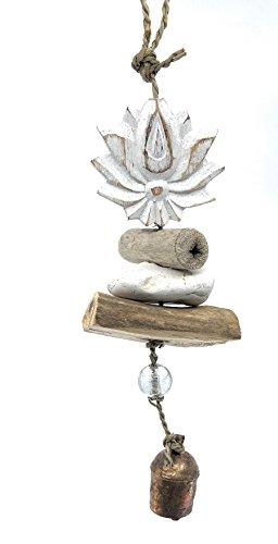 Ella Sussman Lotus Flower Yoga Wind Chime Namaste Bleached...