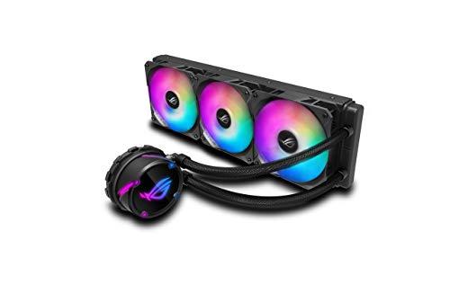 ASUS ROG STRIX LC 360 RGB Cooler CPU All-in-One ROG con Illuminazione Addressable RGB, Aura Sync, Rivestimento Pompa NCVM e Ventola del Radiatore ROG 120 mm