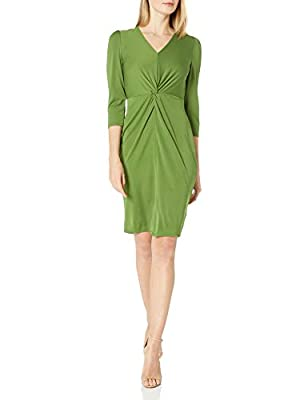 This versatile and figure-flattering dress is made from soft matte jersey material and transitions easily from day to night and features a flattering front twist We designed this dress to fit closer to body. For a more relaxed fit we recommend sizing...