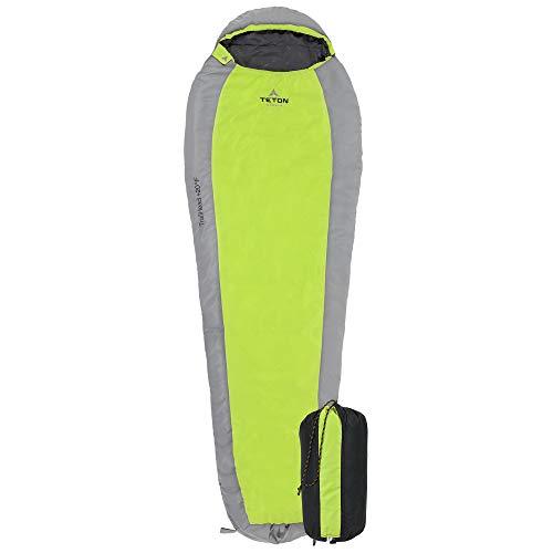 TETON Sports TrailHead Ultralight Mummy Sleeping Bag- Stuff Sack Included.