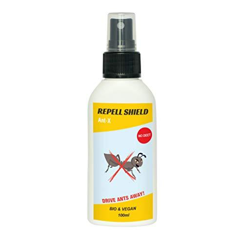 REPELL SHIELD Repellente per formiche 100 ml   Disinfestazione Naturale dalle formiche I per Interni ed Esterni I Alternativa all'insetticida