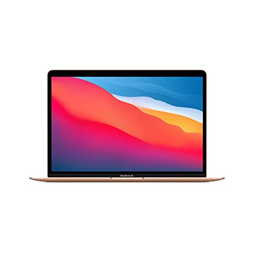New Apple MacBook Air with Apple M1 Chip (13-inch, 8GB RAM, 256GB SSD Storage) - Gold (Latest Model)