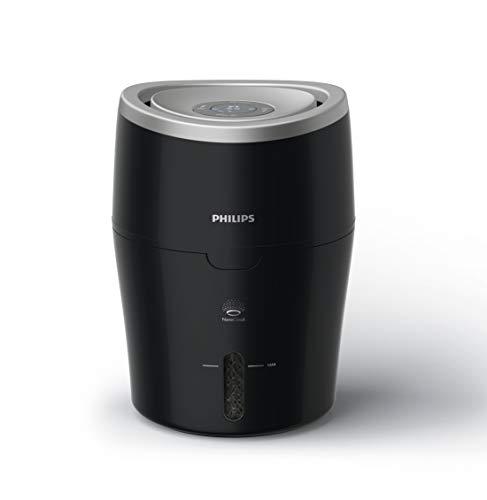 Philips Luftbefeuchter HU4814/10 (bis zu 40 m², hygienische NanoCloud-Technologie, leiser Nachtmodus, Automodus, 2 Liter Wasserbehälter) schwarz