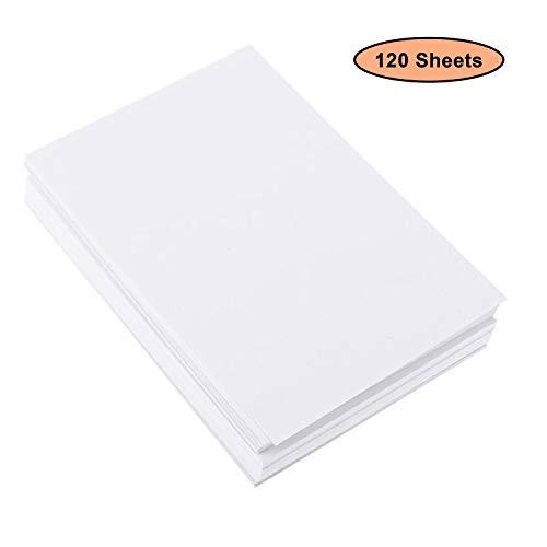 120 Blatt Aquarellpapier A4 - Wasserfarben Papier - 200g Kaltgepresst Baumwolle weiß Papier - Zeichenpapier Perfekt für Anfänger Künstler, Skizzen, Öl- und Acrylmalerei Pan Pastels