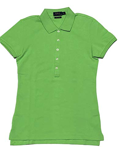 Polo Ralph Lauren Womens Skinny Fit Stretch Mesh Polo Shirt (Force Green, X-Small)