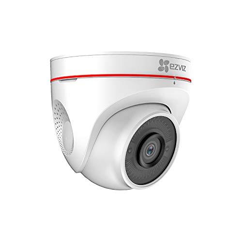 EZVIZ C4W Telecamera Wi-Fi da Esterno 1080p Videocamera con Visione Notturna Fino 30m, Protezione IP67, Sistema d'allarme con Luce Stroboscopica e Sirena Audio Bidirezionale, Compressione Video H.265