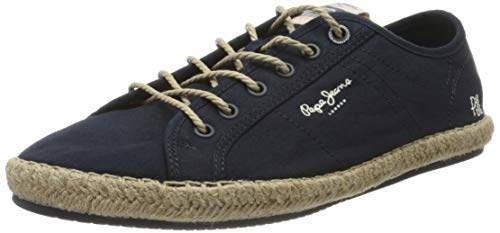 Pepe Jeans Tourist Island, Sandalias con cuña Tipo Alpargatas Hombre, Azul Marino 595, 42 EU