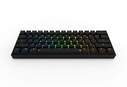 Obinslab Anne 2 Pro Mechanical Gaming Keyboard 60% True RGB Backlit - Wired/Wireless Bluetooth 4.0 PBT Type-c Full Keys Programmable (Cherry Mx Red, Black)