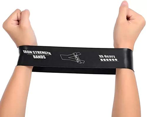 A-Tape Resistance Loop Bands for Legs and Butt Set, Gym and Yoga Resistance Exercise Bands Workout Training Bands for Home Fitness, Crossfit, Elastic Strength Squat Band Beginner