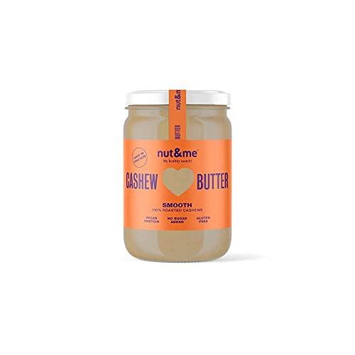 Crema de anacardos nut&me 330 gr | Hecho con anacardos tostados y aceite de almendra | Sin azucar, sin gluten y sin aditivos | Sin aceite de palma