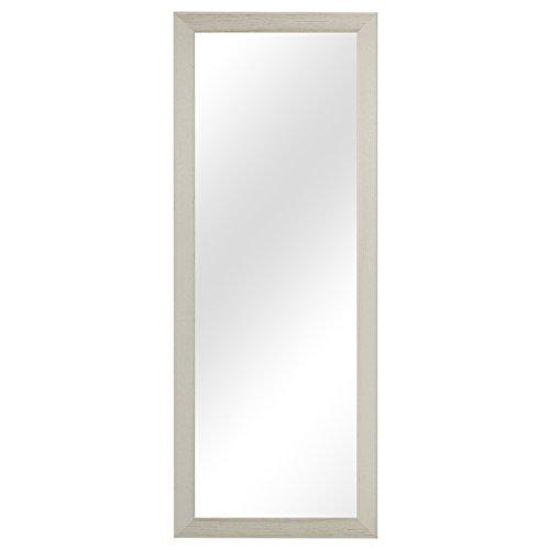 Multistore 2002 Garderobenspiegel Wandspiegel Frisierspiegel Flurspiegel Barspiegel 36,5x96,5cm - Weiss
