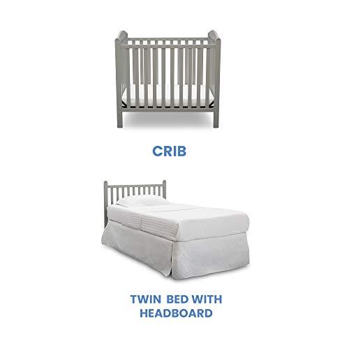Product Image 4: Delta Children Emery Mini Convertible Baby Crib with 2.75-inch Mattress, Grey