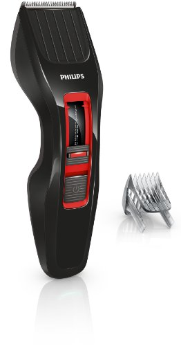 Philips HC3420/15 Serie 3000 Tagliacapelli, Cordless, 13 Lunghezze, Lame DualCut, Nero