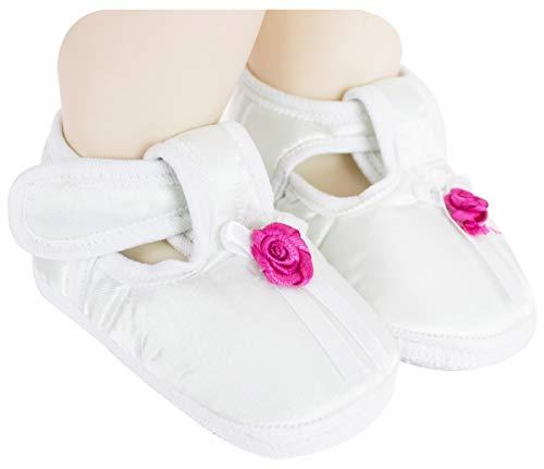 Neska Moda Baby Girls Satin Sandal Booties For 6 To 9 Months (White) -BT720
