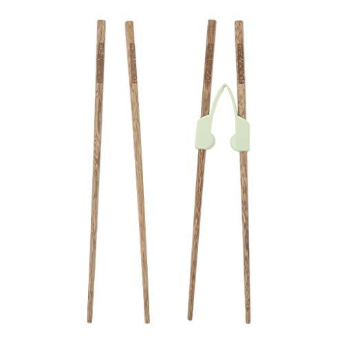 IPOTCH 2 par Palitos de bambú con ayudantes Entrenamiento d