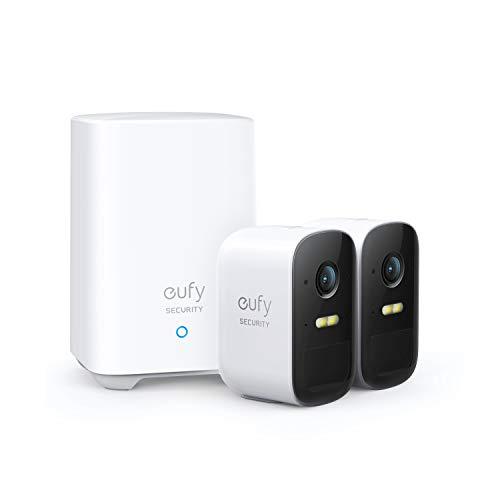 Telecamera wifi esterno batteria eufy Security eufyCam 2C, 180 giorni di durata della batteria, HD 1080p, impermeabilità IP65, visione notturna, compatibile con Alexa, nessun costo mensile