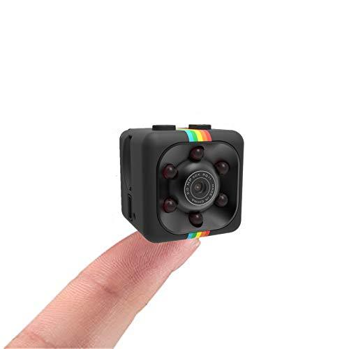Mini telecamera SQ11 HD, Sansnail con visione notturna e risoluzione 1080p (colore nero)