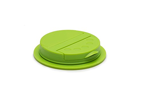 Jarware Spice Lid for Regular Mouth Mason Jars, Green