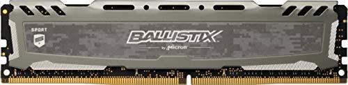 Crucial Ballistix Sport LT BLS16G4D30AESB 3000 MHz, DDR4, DRAM, Mémoire pour PC de Gamer, 16Go, CL15 (Gris)