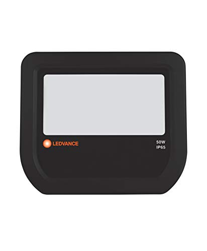 Ledvance LED Fluter | Flutlicht-Leuchte für Außenanwendungen | Warmweiß | 155,0 mm x 180,0 mm x 46,0 mm | FLOODLIGHT 50 4058075097568, Schwarz