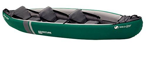 Sevylor Kayak Gonflable Adventure Plus, Canoë Canadien 2+1 Personnes, Kayak de Mer, 368 x 86 cm
