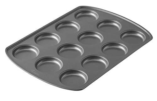 Wilton Perfect Results Premium Non-Stick Bakeware Muffin Top Baking Pan, Enjoy the Best Part of the Muffin, Also Great for Eggs, Corn Bread and More, 12 Cavities