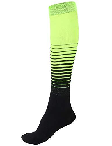 Never Lose Professional Series Soccer Stockings (Black,Neon, XL)