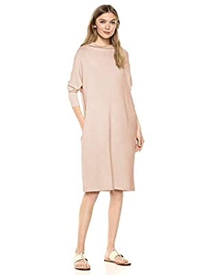 "A timeless funnel-neck highlights this long-sleeved dress with a relaxed fit Supersoft Terry offers incredible comfort with rich rayon fibers and a gently brushed back Start every outfit with Daily Ritual's range of elevated basics Model is 5'11"" and..."
