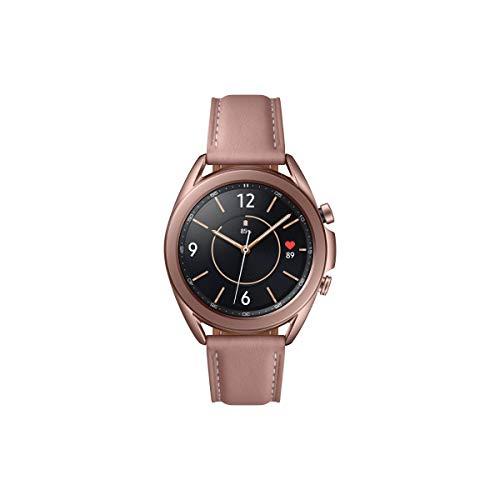 Samsung Galaxy Watch 3, Runde Bluetooth Smartwatch für Android, drehbare Lünette, Fitnessuhr, Fitness-Tracker, 41 mm, Mystic Bronze. 36 Monate Herstellergarantie (Deutche Version)[Exkl. bei Amazon]