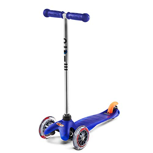 Micro Kickboard - Mini Original 3-Wheeled, Lean-to-Steer, Swiss-Designed Micro Scooter for Preschool Kids, Ages 2-5 - Blue