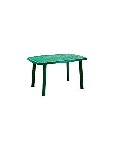 IpaeProgarden Tavolo in plastica, dimensioni 85X137x72 cm, Verde
