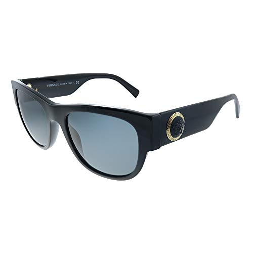 310JiM2LMWL Put your best fashion face forward in these dramatically divine Versace® sunglasses.