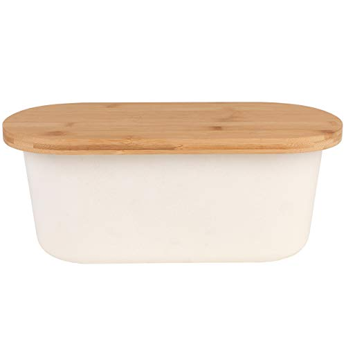 Salter® Earth BW07825 Leichter Brotkasten mit Bambusdeckel, naturfarben | Bambusfasermischung
