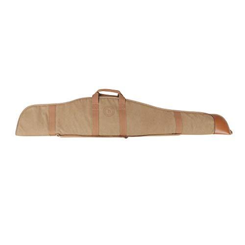 TOURBON Sac de chasse rembourré en toile et cuir souple pour fusil de chasse 453,6 g – 132,1 cm (carabon)