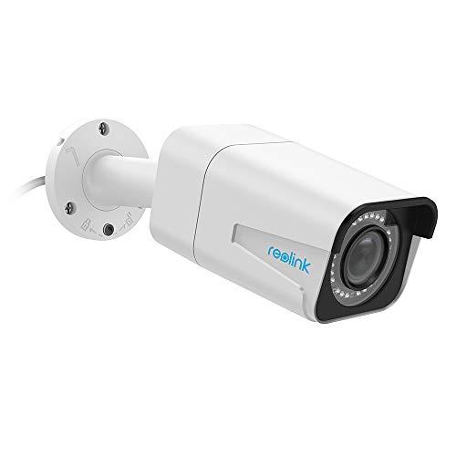 Reolink 5MP Telecamera Sorveglianza PoE Esterno Autofocus con 4X Zoom Ottico, Telecamera IP Esterno Impermeabile IP66 con Visione Nottura IR 30m, Audio e Slot per Scheda SD, RLC-511-5MP