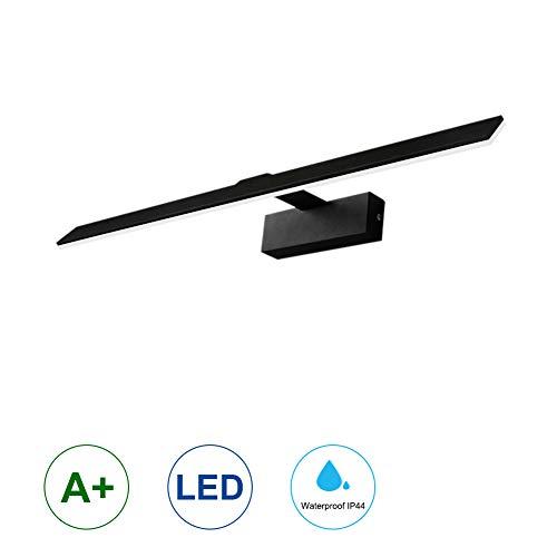K-Bright LED Badleuchte,18W 90 LEDs Spiegellampe Spiegelleuchte,Aluminium Badlampe,Anti-Schwindel Make-up Licht Schranklampe Aufbauleuchte,neutral-weiß,530mm,230 V,Schwarz