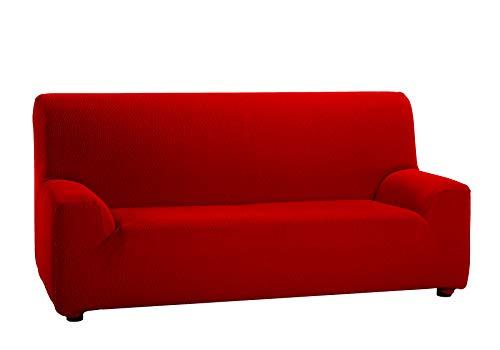 Martina Home Tunez, Copridivano elastico, Tela (50% poliestere, 45% cotone, 5% elastan), Rosso, 3...
