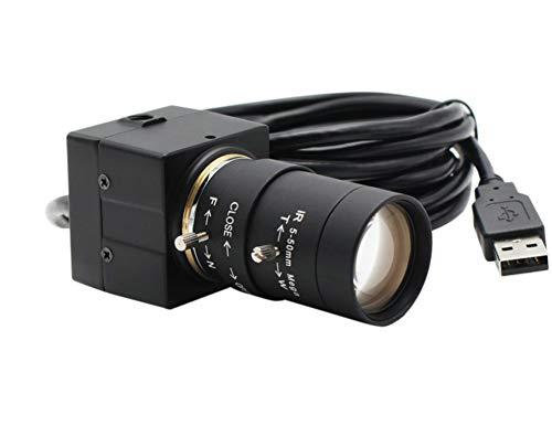 Telecamera di sorveglianza 8mp 3264x2448 Sony Imx179 Cctv Usb Webcam 5-50mm Varifocal Cs Lens Hd Custodia Industriale Usb All'interno Sorveglianza Telecamera Usb