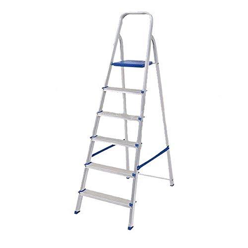 Escada Doméstica Dobrável Em Alumínio 6 Degraus - Alume